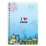 Notebook A5Loving Bangkok สีฟ้า