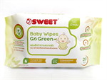 SWEET Baby wipe Go Green 20 แผ่น 1แถม 1