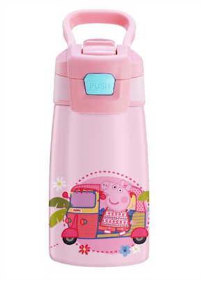 กระบอกน้ำสแตนเลส Peppa Pig สีชมพู