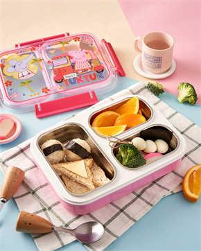 กล่องข้าวสแตนเลส Peppa Pig สีชมพู