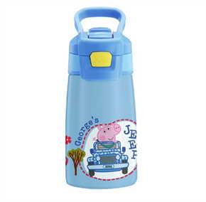 กระบอกน้ำสแตนเลส Peppa Pig สีฟ้า