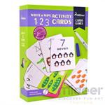 Mideer มิเดียร์ Write&wipe Activity-123 Cards การ์ดกิจกรรมเพื่อการเรียนรู้ ตัวเลข
