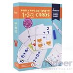 Mideer มิเดียร์ Write&wipe Activity-1+2=3 Cards การ์ดกิจกรรมเพื่อการเรียนรู้ การคำนวณ
