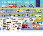 Mideer มิเดียร์ Reusable Stickers-Transportation สติ๊กเกอร์สุญญากาศ (3+)