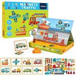 Mideer มิเดียร์ Magnets-Traffic Puzzle Games กล่องกิจกรรมแม่เหล็กเสริมสร้างจินตนาการ (3+)
