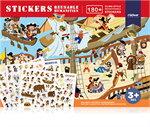 Mideer มิเดียร์ Reusable Stickers-Humanities สติ๊กเกอร์สุญญากาศ (3+)