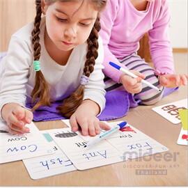 Mideer มิเดียร์ Write&wipe Activity-Word Cards การ์ดกิจกรรมเพื่อการเรียนรู้ คำศัพท์ภาษาอังกฤษ