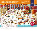 Mideer มิเดียร์ Reusable Stickers-Fun Life สติ๊กเกอร์สุญญากาศ (3+)