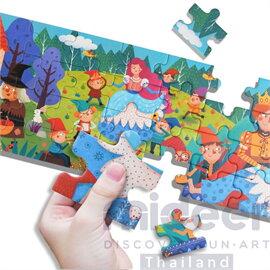 Mideer มิเดียร์ Fairy Tale Puzzle-Little Red Riding Hood จิ๊กซอว์เล่านิทาน (สำหรับน้อง 2-3 ขวบ)