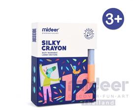 Mideer มิเดียร์ SILKY CRAYON สีเทียนขนาดใหญ่สำหรับเด็ก