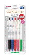 ปากกา Sarasa Clip Dots Series 5color set
