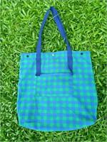 กระเป๋าผ้าลายสก๊อต (เขียว-น้ำเงิน)