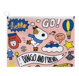 ซองซิปขยายข้าง A4 Dingo friends DG313