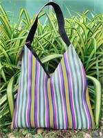 Bangkok Baskets กระเป๋าสะพาย ลายเหลือง น้ำเงิน ชมพู