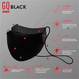 GQWhite mask หน้ากากผ้า สีดำ