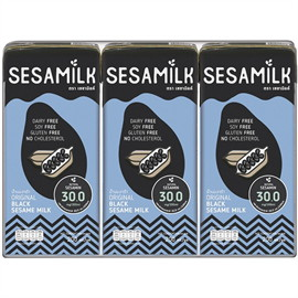 แพค 3 กล่อง เซซามิลค์นมงาดำ200มล.