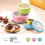 Namiko กล่องอาหารสเตนเลส 420ml - สีชมพู
