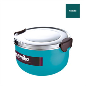 Namiko กล่องอาหารสไตล์เกาหลี 1000ml สีฟ้า