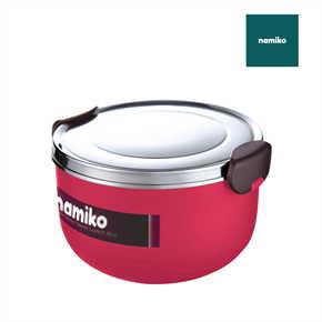 Namiko กล่องอาหารสไตล์เกาหลี 1000 ml สีชมพู