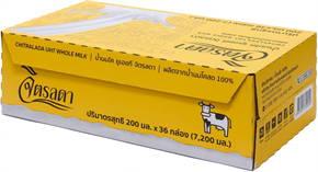 นมจิตรลดา UHT กล่องเหลือง 2 ลัง 72 กล่อง Exp: 03/07/2021