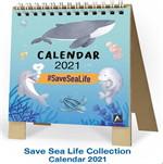 ปฏิทินตั้งโต๊ะ Mini Stand Save Sea Life