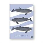 สมุดโน้ต A5 Save Sea Life ปกวาฬ