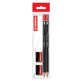 ชุดดินสอทำข้อสอบ STABILO Micro Exam Grade 2B