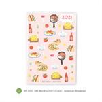สมุดแพลนเนอร์ขนาด A6 Monthly  SP2029SPA6LMmo20(Color)AmericanBreakfast