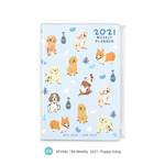สมุดแพลนเนอร์ ขนาด B6 Weekly Planner 2021 (zip) - Puppy Gang