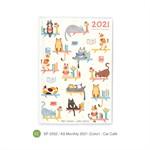 สมุดแพลนเนอร์ขนาด A6 Monthly SP2028 SPA6 LM mo/20 (Color) - Cat cafe