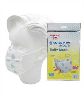 หน้ากากเด็กป้องกันฝุ่น Anyguard แพค3ชิ้น