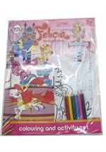 สมุดระบายสี+สติกเกอร์+สีไม้ Felicia