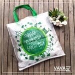 Shopping Bag สีใส Make Everday Earth Day
