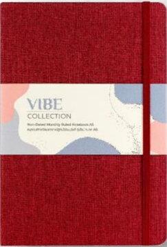 สมุด Plannerรุ่น VIBE A5 LINEN NOTEBOOK สีแดง