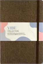 สมุด Plannerรุ่น VIBE A5 LINEN NOTEBOOK สีน้ำตาล