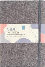 สมุด Plannerรุ่น VIBE A5 LINEN NOTEBOOK สีเทา