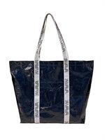 Shopping Bag สีกรมท่า หูวาวาสีขาว