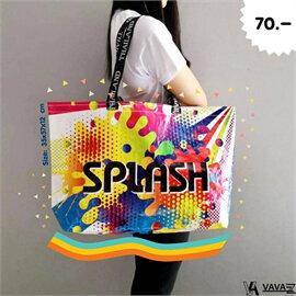 shopping bag beach bagลายsplash หลากสี