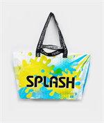 shopping bag beach bagลายsplashฟ้าเหลือง