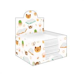 กล่องกระดาษโน๊ตลาย books with coffee