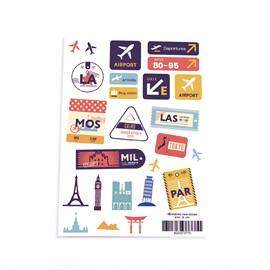 สติ๊กเกอร์ ลาย travel stickers