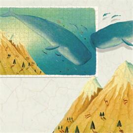 Mideer มิเดียร์ 530 Puzzle - Whale in the sky วาฬบนท้องฟ้า