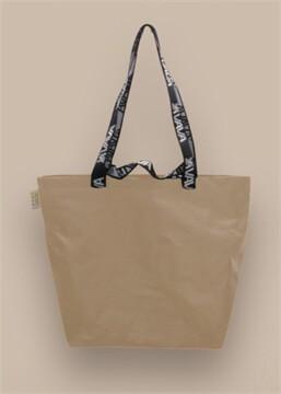 Shopping Bag เอิร์ทโทน สีเบจ หูสีดำ