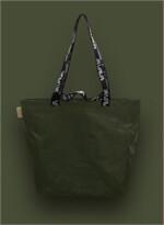 Shopping Bag เอิร์ทโทน สีขี้ม้า หูสีดำ