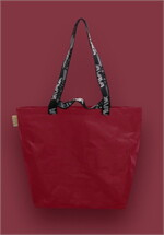 Shopping Bag เอิร์ทโทน สีแดง หูสีดำ