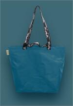 Shopping Bag เอิร์ทโทน สีน้ำเงิน หูสีดำ