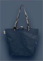 Shopping Bag เอิร์ทโทน สีกรมท่า หูสีดำ