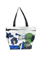 Shopping Bag ซัมเมอร์ทะเล สีเขียวน้ำเงิน