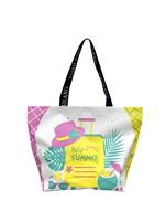 Shopping Bag ซัมเมอร์หมวก สีชมพูเหลือง