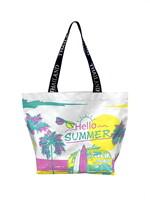 Shopping Bag ซัมเมอร์ทะเล สีชมพูเหลือง